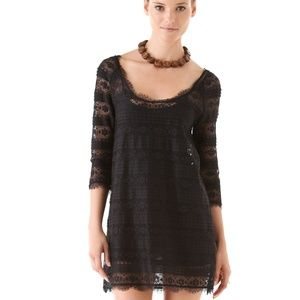 Joie S Brea Lace Black Dress